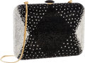 "Luxury Accessories:Bags, Judith Leiber Full Bead Black & Silver Crystal MinaudiereEvening Bag . Very Good to Excellent Condition . 6.5""Width ..."