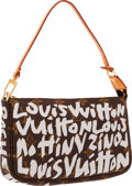 "Luxury Accessories:Bags, Louis Vuitton Limited Edition Monogram Graffiti by Stephen SprousePochette Bag . Excellent Condition . 9"" Width x 5""..."