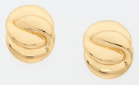 Yves Saint Laurent Gold Clip-on Earrings