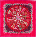 "Luxury Accessories:Accessories, Hermes 90cm Pink ""Aux Pays des Epices,"" by Annie Faivre Silk Scarf.Excellent Condition. 36"" Width x 36"" Length. ..."
