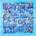 "Luxury Accessories:Accessories, Hermes 90cm Blue ""Concerto,"" by Jean-Louis Clerc Silk Scarf.Excellent Condition. 36"" Width x 36"" Length. ..."