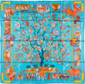 "Luxury Accessories:Accessories, Hermes 90cm Green ""Fantaisies Indiennes,"" by Loïc Dubigeon SilkScarf. Excellent Condition. 36"" Width x 36"" Length...."