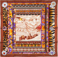 "Luxury Accessories:Accessories, Hermes 90cm Brown ""La Femme aux Semelles de Vent,"" by Aline HonoréSilk Scarf. Excellent Condition. 36"" Width x 36""Le..."