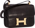 """Luxury Accessories:Bags, Hermes 23cm Marron Fonce Lizard Single Gusset Constance Bag with Gold Hardware. Very Good to Excellent Condition. 9"""" W..."""