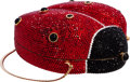 "Luxury Accessories:Bags, Judith Leiber Full Bead Red & Black Crystal Ladybug MinaudiereEvening Bag. Very Good Condition. 5"" Width x 4"" Height..."