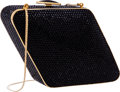 "Luxury Accessories:Bags, Judith Leiber Full Bead Black Crystal Diamond Shaped MinaudiereEvening Bag . Very Good to Excellent Condition . 7""Wi..."