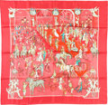 "Luxury Accessories:Accessories, Hermes 90cm Pink ""Soiree de Gala,"" by Jean-Louis Clerc Silk Scarf .Pristine Condition. 36"" Width x 36"" Length. ..."