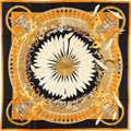 "Luxury Accessories:Accessories, Hermes 90cm Black ""Amours, "" by Annie Faivre Silk Scarf.Pristine Condition. 36"" Width x 36"" Length. ..."
