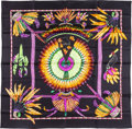 "Luxury Accessories:Accessories, Hermes 90cm Black ""Brazil,"" by Laurence Bourthoumieux Silk Scarf.Pristine Condition. 36"" Width x 36"" Length. ..."