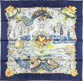 "Luxury Accessories:Accessories, Hermes 90cm Green & Blue ""Sarasvati,"" by Zoe Pauwels Silks Scarf. Pristine Condition. 36"" Width x 36"" Length. ..."