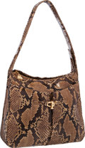 "Luxury Accessories:Bags, Judith Leiber Natural Python Shoulder Bag. Very GoodCondition. 11"" Width x 9.5"" Height x 3"" Depth. ..."