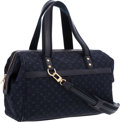 "Luxury Accessories:Bags, Louis Vuitton Navy Blue Monogram Canvas Josephine Bag . VeryGood to Excellent Condition . 13"" Width x 9"" Height x 6""..."