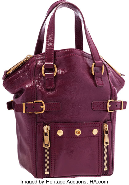 93ccc9d7fc Very; Luxury Accessories:Bags, Yves Saint Laurent Magenta Patent Leather  Mini Downtown Bag .