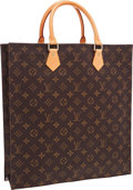 "Luxury Accessories:Bags, Louis Vuitton Classic Monogram Canvas Sac Plat Tote Bag . VeryGood Condition . 14"" Width x 15"" Height x 3.5"" Depth..."