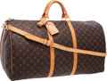 """Luxury Accessories:Bags, Louis Vuitton Class Monogram Canvas Keepall 60 Weekend Bag .Good to Very Good Condition . 24"""" Width x 13"""" Height x11..."""