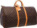 "Luxury Accessories:Travel/Trunks, Louis Vuitton Classic Monogram Canvas Keepall 60 Weekender Bag.Very Good Condition . 24"" Width x 13"" Height x 11""Dep..."
