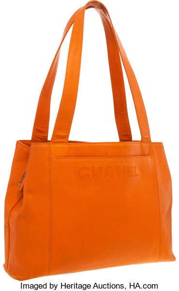 24a0764d3b8 Luxury Accessories:Bags, Chanel Orange Caviar Leather Tote Bag . Very Good  Condition.