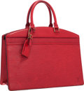 "Luxury Accessories:Bags, Louis Vuitton Red Epi Leather Riviera Bag . Very GoodCondition . 14"" Width x 11""Height x 6"" Depth. ..."