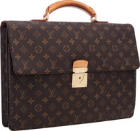 "Louis Vuitton Classic Monogram Canvas Laguito Briefcase Very Good Condition 15.5"" Width x 11"" H"
