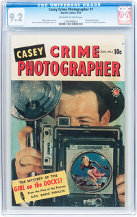 Casey-Crime Photographer #1 (Marvel, 1949) CGC NM- 9.2 Off-white to white pages