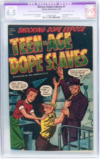 Harvey Comics Library #1 Teen-Age Dope Slaves (Harvey, 1952) CGC Apparent FN+ 6.5 Slight (C-1) Off-white to white pages...