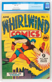 Whirlwind Comics #1 (Nita Publication, 1940) CGC VF+ 8.5 Off-white to white pages
