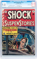 Golden Age (1938-1955):Horror, Shock SuspenStories #4 Gaines File pedigree 2/12 (EC, 1952) CGCNM/MT 9.8 Off-white to white pages....