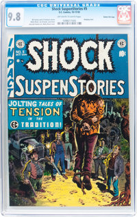 Shock SuspenStories #5 Gaines File pedigree 4/7 (EC, 1952) CGC NM/MT 9.8 Off-white to white pages