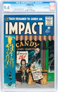 Golden Age (1938-1955):Horror, Impact #3 Gaines File pedigree 6/12 (EC, 1955) CGC NM 9.4 Whitepages....