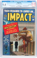 Golden Age (1938-1955):Horror, Impact #1 Gaines File pedigree (EC, 1955) CGC NM 9.4 Off-white towhite pages....