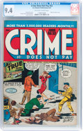 Golden Age (1938-1955):Crime, Crime Does Not Pay #52 (Lev Gleason, 1947) CGC NM 9.4 Off-white to white pages....