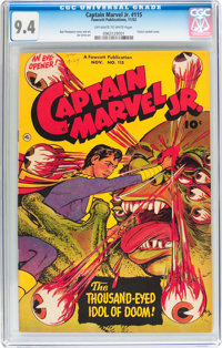 Captain Marvel Jr. #115 (Fawcett Publications, 1952) CGC NM 9.4 Off-white to white pages