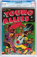 Golden Age (1938-1955):Superhero, Young Allies Comics #4 (Timely, 1942) CGC NM- 9.2 Cream to off-white pages....
