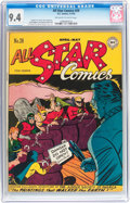 Golden Age (1938-1955):Superhero, All Star Comics #28 (DC, 1946) CGC NM 9.4 Off-white to white pages....