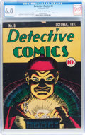 Platinum Age (1897-1937):Miscellaneous, Detective Comics #8 (DC, 1937) CGC FN 6.0 Cream to off-white pages....
