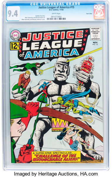 justice league of america 15 twin cities pedigree dc 1962 lot