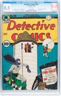 Golden Age (1938-1955):Superhero, Detective Comics #68 (DC, 1942) CGC VF+ 8.5 White pages....