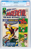 Silver Age (1956-1969):Superhero, Daredevil #1 (Marvel, 1964) CGC VF/NM 9.0 Off-white to white pages....