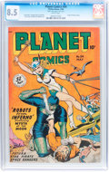 Golden Age (1938-1955):Science Fiction, Planet Comics #54 (Fiction House, 1948) CGC VF+ 8.5 White pages....