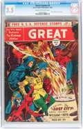 Golden Age (1938-1955):Science Fiction, Great Comics #3 (Great Comics Publications, 1942) CGC VG- 3.5 Creamto off-white pages....