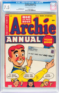 Golden Age (1938-1955):Humor, Archie Annual #1 (Archie, 1950) CGC VF- 7.5 Off-white to white pages....