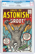 Silver Age (1956-1969):Science Fiction, Tales to Astonish #13 (Marvel, 1960) CGC VG+ 4.5 White pages....
