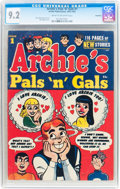 Golden Age (1938-1955):Humor, Archie's Pals 'n' Gals #1 Northford pedigree (Archie, 1953) CGC NM- 9.2 Cream to off-white pages....