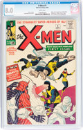 Silver Age (1956-1969):Superhero, X-Men #1 (Marvel, 1963) CGC VF 8.0 White pages....