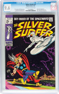 Silver Age (1956-1969):Superhero, The Silver Surfer #4 (Marvel, 1969) CGC NM+ 9.6 Off-white to white pages....