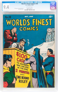 World's Finest Comics #28 (DC, 1947) CGC NM 9.4 Off-white pages