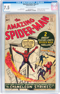 Silver Age (1956-1969):Superhero, The Amazing Spider-Man #1 (Marvel, 1963) CGC VF- 7.5 Cream tooff-white pages....