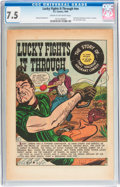 Golden Age (1938-1955):Western, Lucky Fights It Through! #nn (EC, 1949) CGC VF- 7.5 Cream tooff-white pages....
