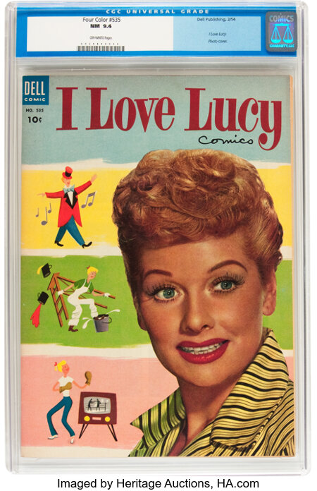 Four Color #535 I Love Lucy (Dell, 1954) CGC NM 9.4 Off-white pages....