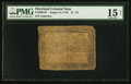 Colonial Notes:Maryland, Maryland August 14, 1776 $1 1/3 PMG Choice Fine 15 Net.. ...